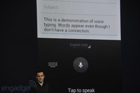 Jelly Bean incluye un teclado predictivo mejorado y dictado offline, entre otros