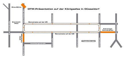 Mapa de la pista habilitada para la presentación del DTM