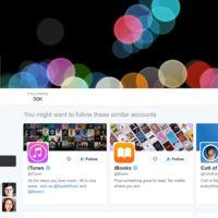 Apple activa su perfil de Twitter '@Apple' para... ¿tuitear en directo la keynote?