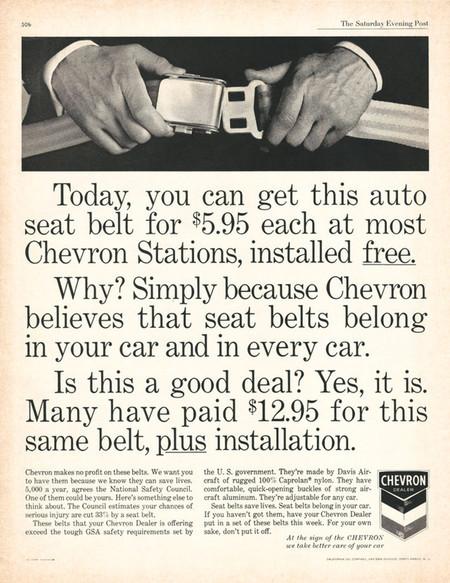 Cinturon Gasolinera Chevron 1967