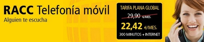 Nuevas tarifas RACC móvil sin subvención