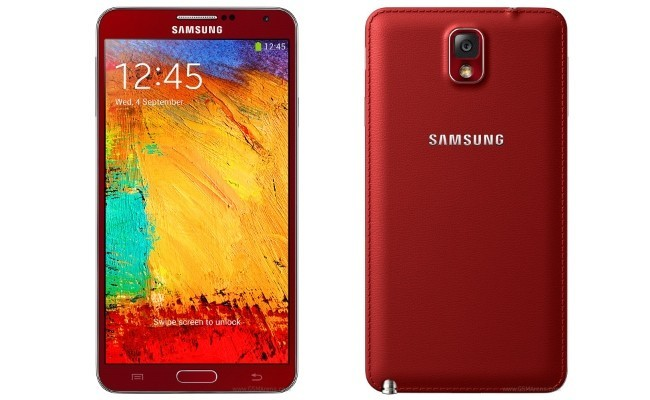 Galaxy Note 3 rojo