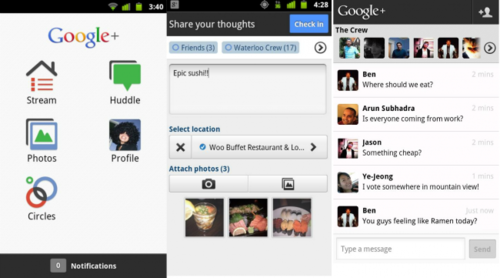 Google+,lanuevaredsocialdeGoogleyacuentaconaplicaciónparaAndroid