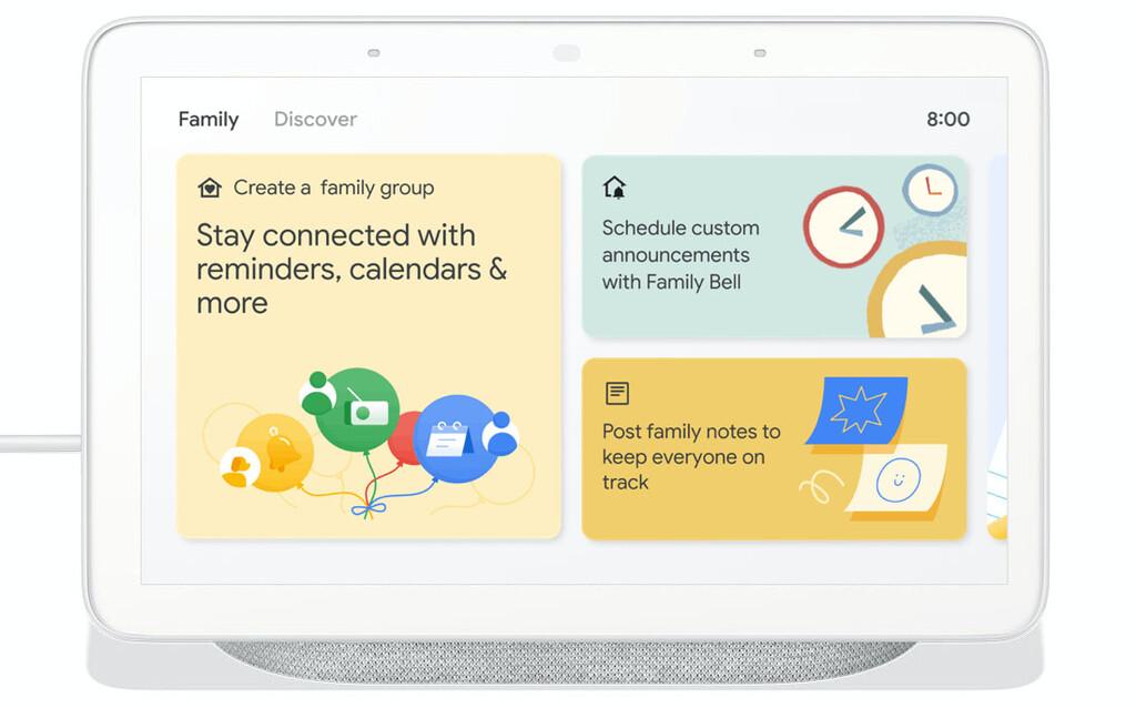 Google Nest Hub renueva sus alarmas, se integra con Zoom y añade la sección 'Familia'