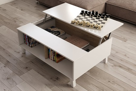 Mesa para el salón elevable estilo nórdico por 85 euros en Amazon