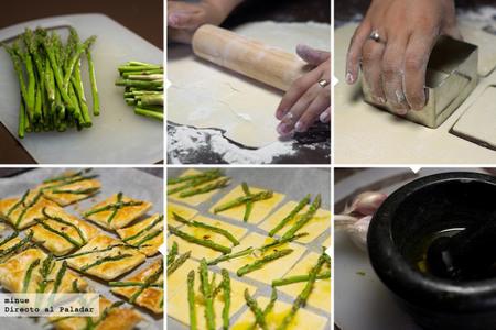 Tartaletas espárragos picantes - elaboración