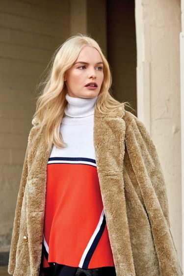 Kate Bosworth se viste de Pinko... Aunque demasiado abrigada