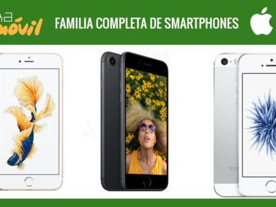 iPhone 7 y iPhone 7 Plus, así quedan junto al resto de teléfonos Apple
