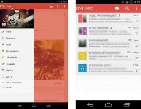 Google Plus y Gmail Hera