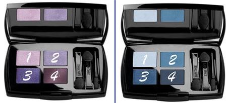 Cuatro looks con dos paletas de Lancôme: azul y morado