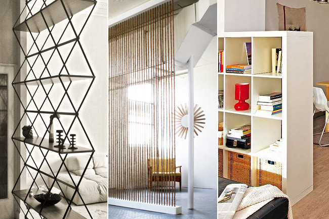 Tres originales ideas para separar ambientes - Estanterias originales de pared ...