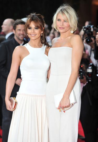 La alfombra roja de Londres se tiñe de blanco con Cameron Diaz y Cheryl Cole