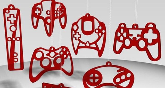 Adornos de navidad en forma de controladores de juegos - imagen de ecetia