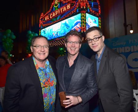 John Lasseter con Andrew Stanton y Angus MacLane