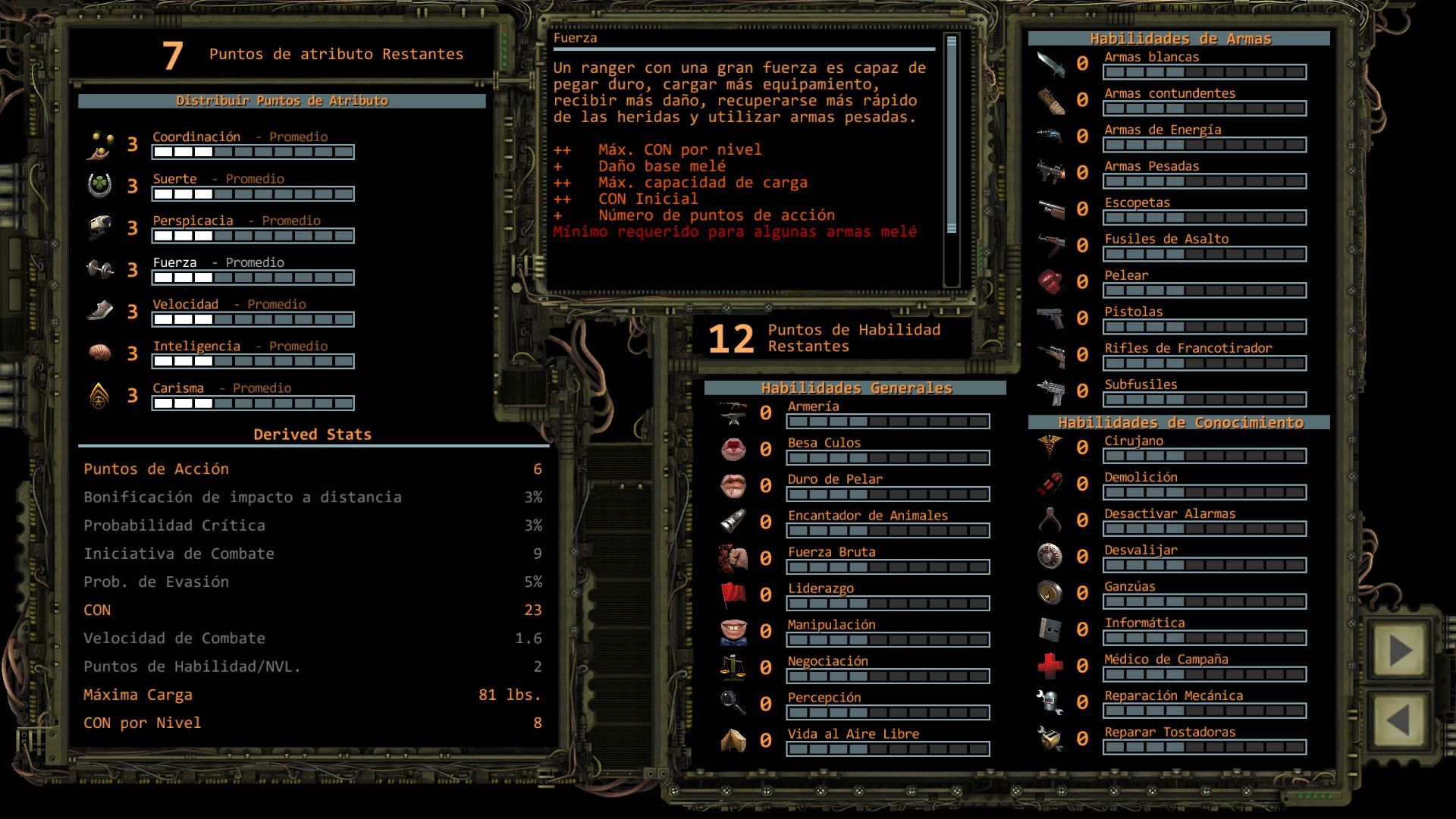 Foto de Distribución de puntos de Atributo en Wasteland 2 (10/11)