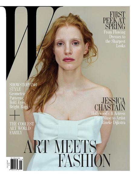Jessica Chastain en W Magazine