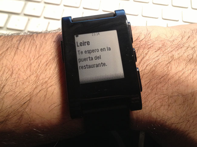 Reloj Pebble para el iPhone