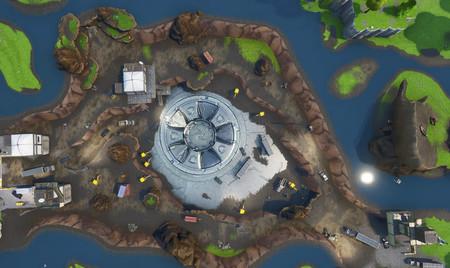 Hay un OVNI bajo el suelo de Fortnite, y parece ser la clave para el nuevo evento del juego