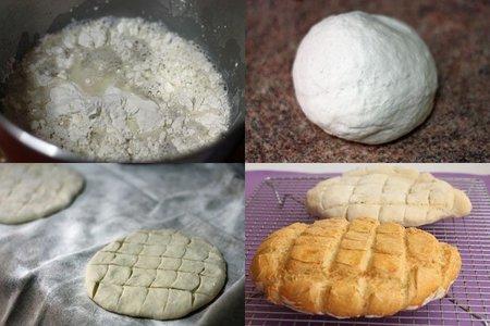 Receta de Marruecos para hacer pan casero. Pasos
