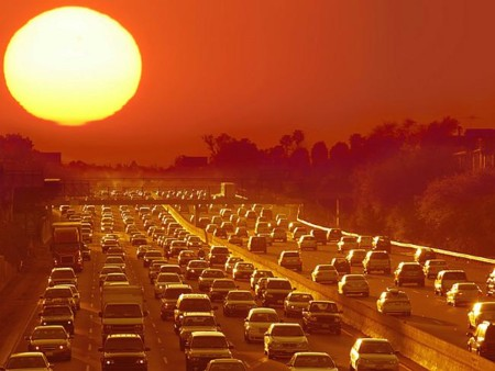 Los Angeles Traffic Jam Sunset