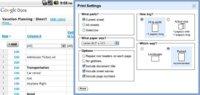 Google Docs mejora la impresión de hojas de cálculo