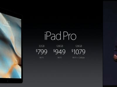 Apple presenta el iPad Pro