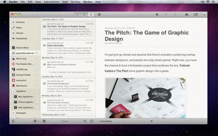 Reeder aprovecha el cierre de Google Reader y ofrece su aplicación para Mac y iPad de forma gratuita