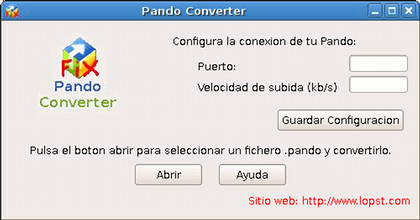 Pando Converter, descarga cualquier fichero Pando en Linux
