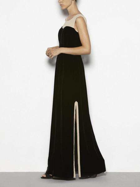 Maxi vestido de terciopelo negro