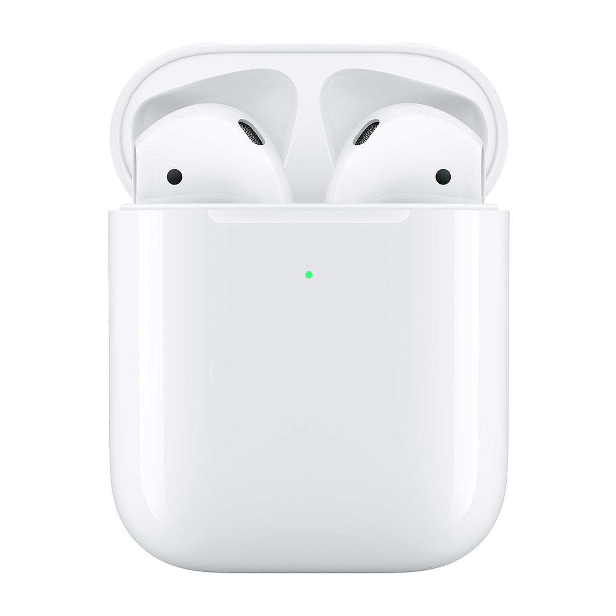 Auriculares de botón Apple AirPods 2ª Generación con estuche de carga inalámbrica