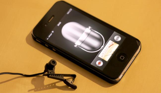 iPhone grabando