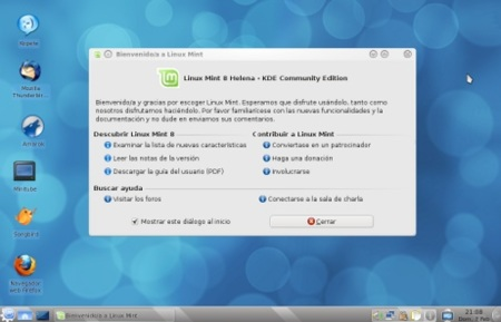 Disponible Linux Mint 8 KDE Community Edition
