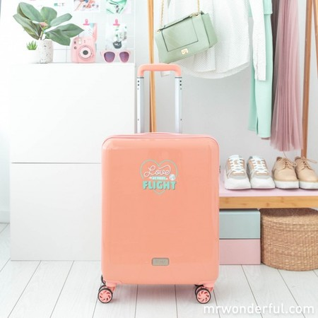 Mrw 8425126215268 Small Suitcase Rosa Hello World Here We Go 5 Editar Editar