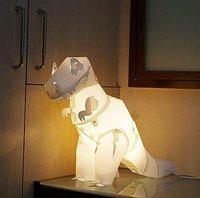 Lámpara de mesa con forma de dinosaurio