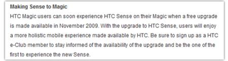 HTC Magic se atreve con Sense en Brasil