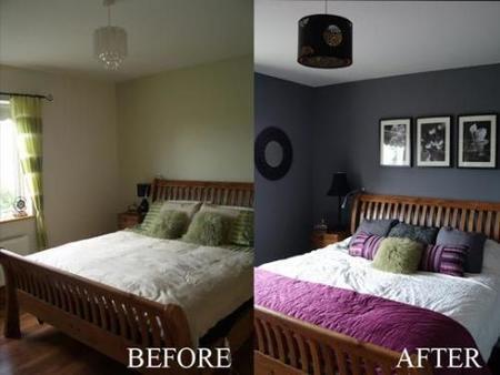 Antes y después: un dormitorio gris que no aburre