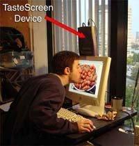 Pantallas gustativas, ¡a chupar el monitor!