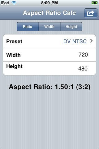 Aspect ratio calc