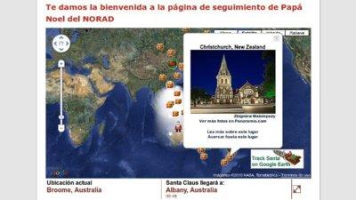 Sigue la ruta de Papá Noel por Internet