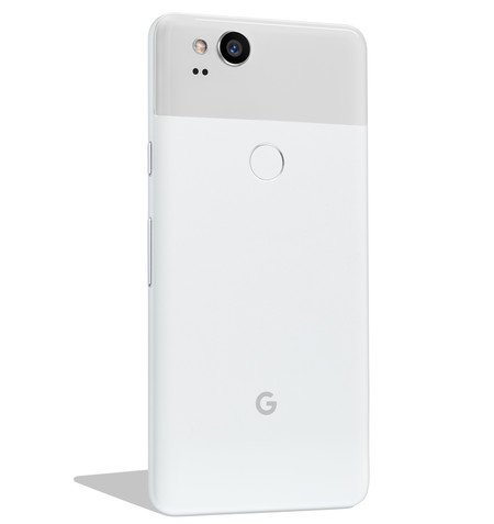 Pixel 2 Clearly White Back Diagonal 1