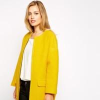 Abrigo cocoon amarillo