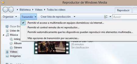 Configurar el Reproductor de Windows Media de Windows 8 para reproducir vídeos desde Xbox 360