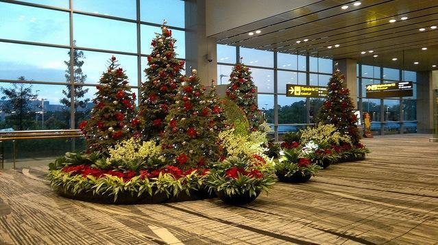 Aeropuerto en Navidad
