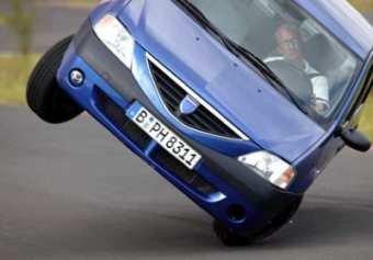 Dacia Logan. Prueba del Alce