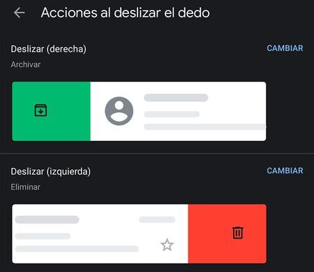 Gmail Gesto Deslizado
