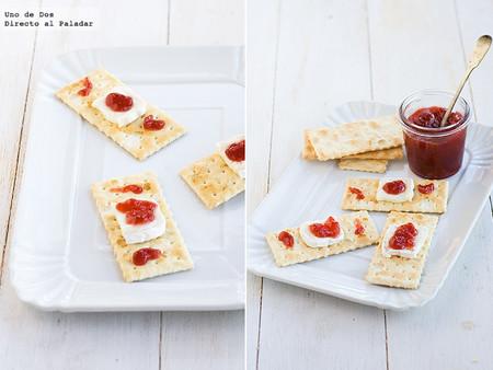 Tiritas de queso y mermelada, receta de Halloween fácil y rápida