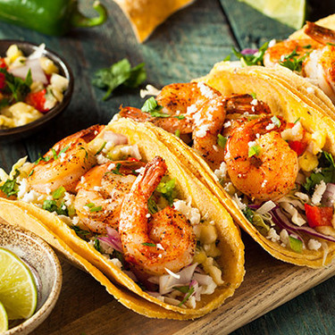 Tacos gobernador estilo Sinaloa. Receta fácil