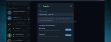 Cómo crear carpetas de chats en Telegram para organizar tus conversaciones