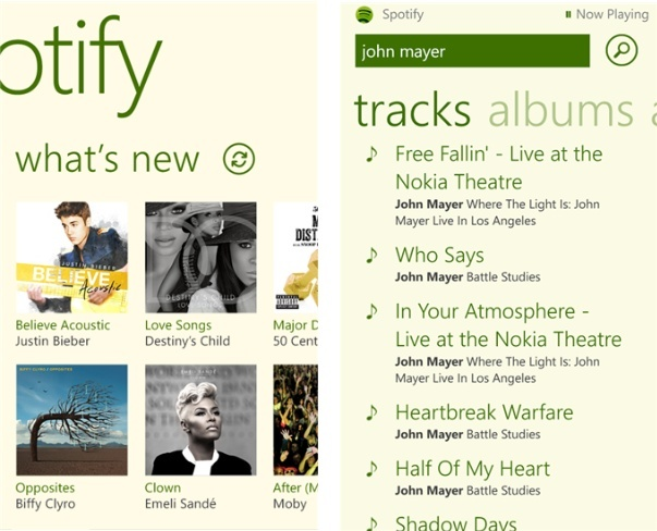 spotify windows phone 8