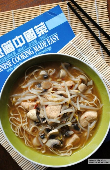 Noodles Picantes Con Pollo Jengibre Y Chile